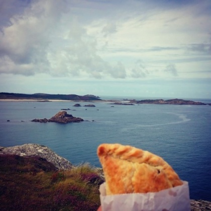 pasty on st martins isles of scilly