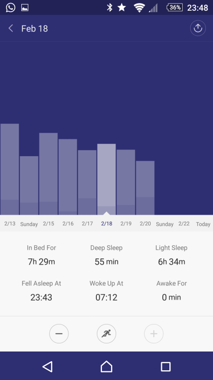 Tracking sleep in Mi Fit
