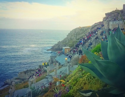 A healthy crowd at The Minack Theatre near Porthcurnow